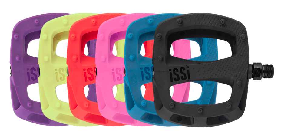 The iSSi Thump flat pedal comes in two sizes and six awesome colors! Perfect for any bike or rider.
