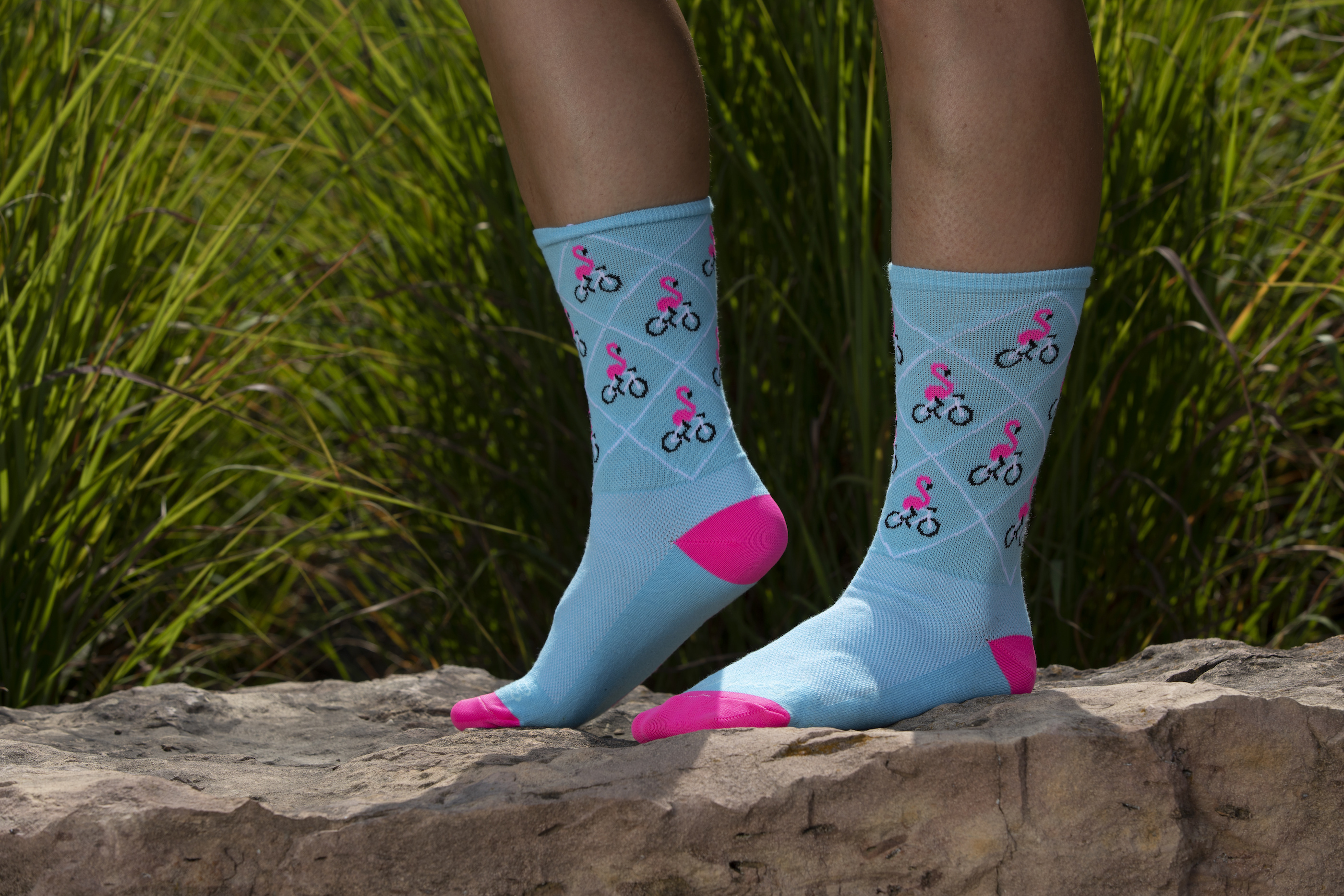 iSSi Flamingo Socks posed