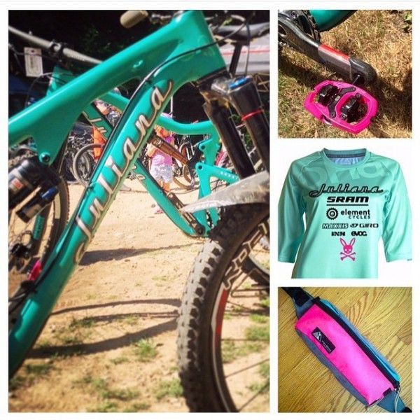 Pink iSSi Trail pedals