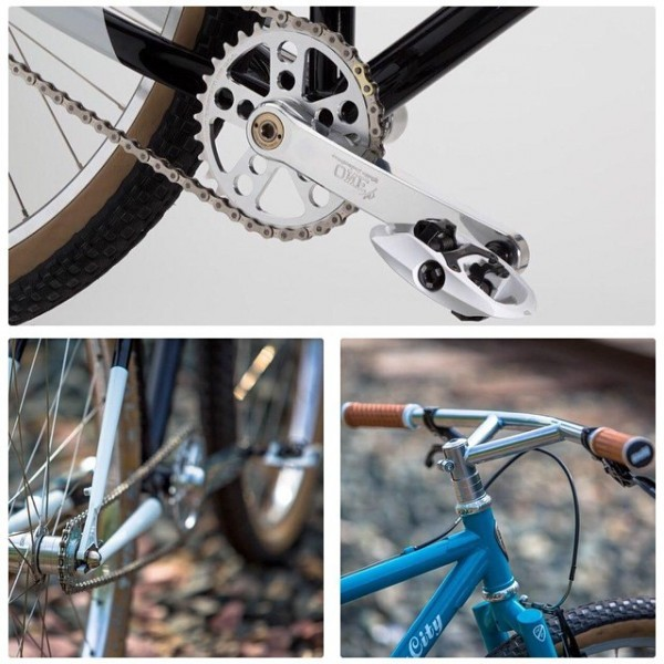 White iSSi Trail clipless pedals on an All-City bike