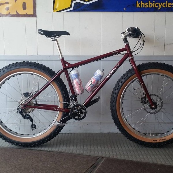 Silver iSSi Trail clipless pedals on a Surly Pugsley